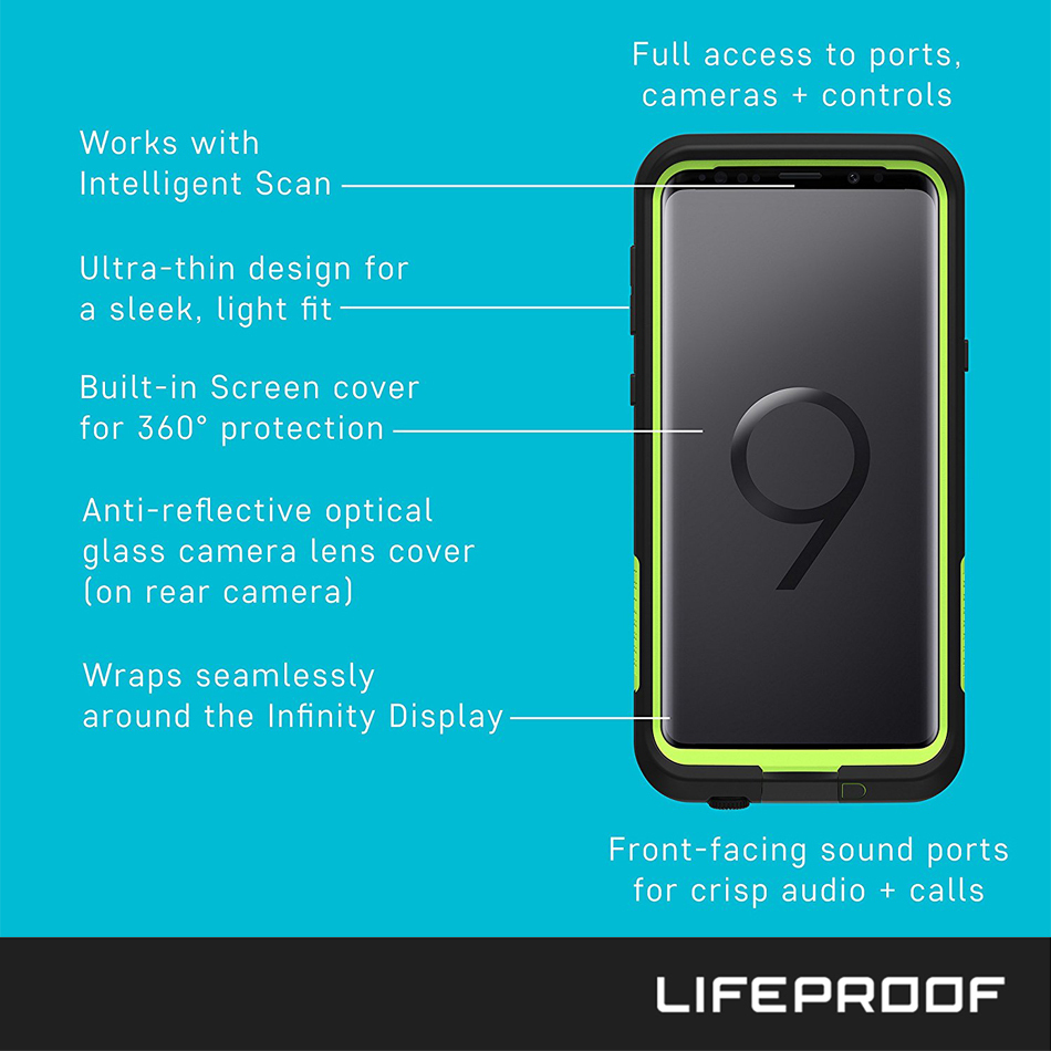 buy popular dac97 d5028 LifeProof Fre Waterproof Case - Samsung Galaxy S9+ (Black)